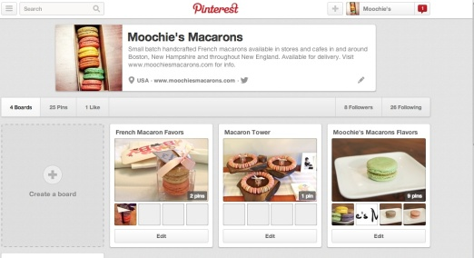 pinterest for moochie's website