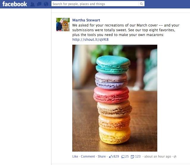 Martha Stewart loves Moochie's Macarons!