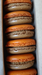 Pumpkin Moochie's Macarons